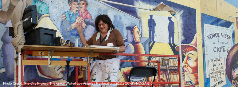Judy Baca restores The Great Wall of Los Angeles