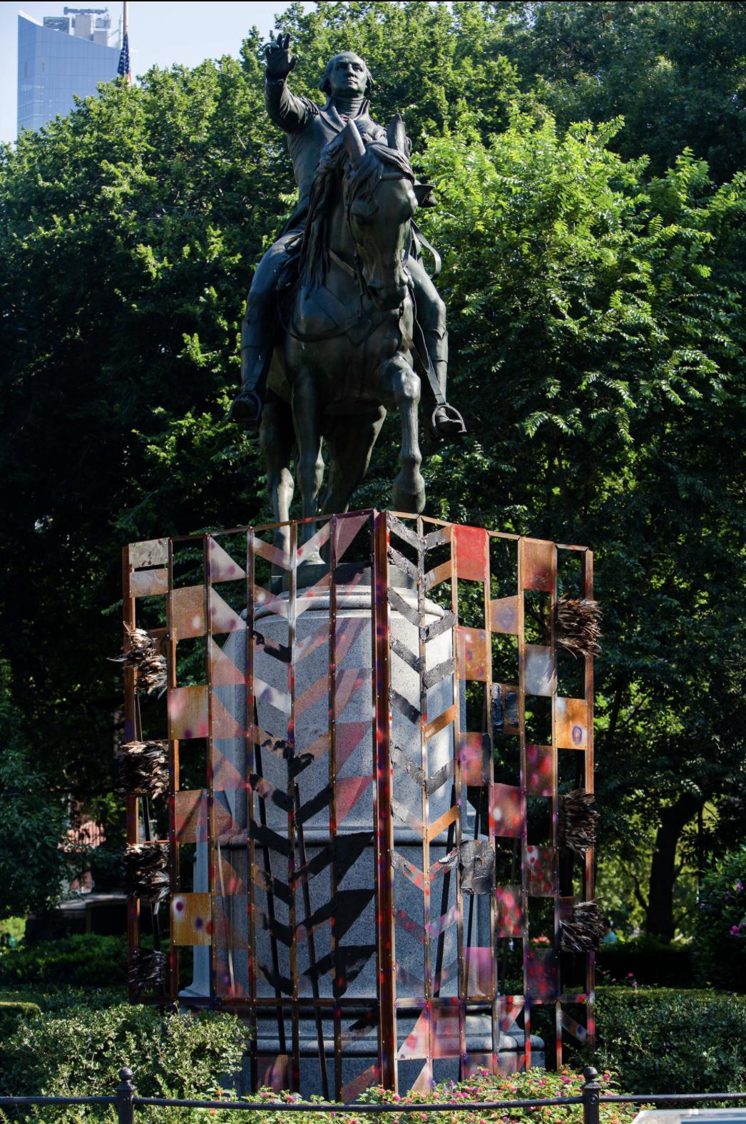 Photograph of Kenseth Armstead's installation, Washington 20/20/20