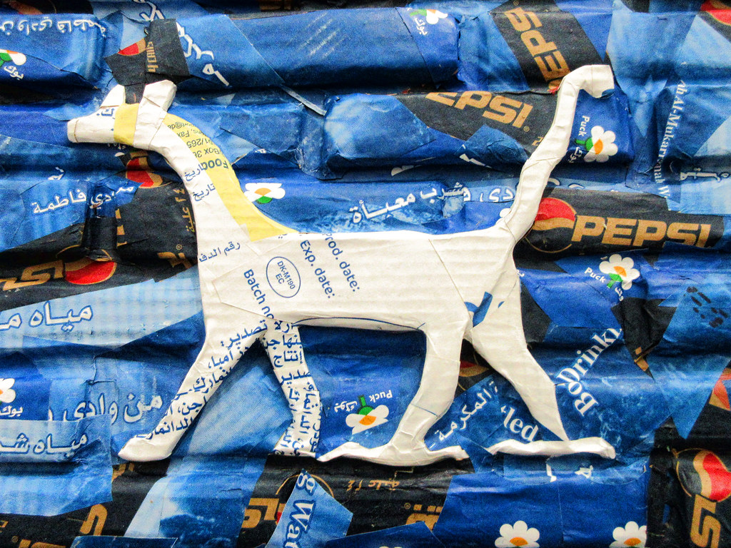 """Michael Rakowitz, May the Arrogant Not Prevail, 2010. """"MCA Ishtar Cat"""" by Atelier Teee is licensed under CC BY-NC-ND 2.0"""